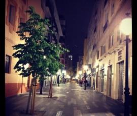 Zona peatonal calle Castaños Alicante