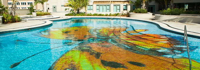 Mosaicos para piscina de lujo gibeller for Piscina lujo