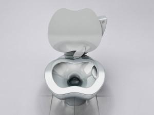 """Inodoro que emula la figura de una manzana :""""El iPoo Toilet"""""""