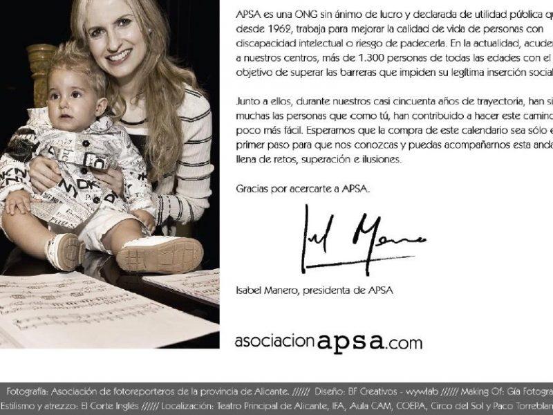 Gibeller colabora  en el calendario 2012 de Apsa