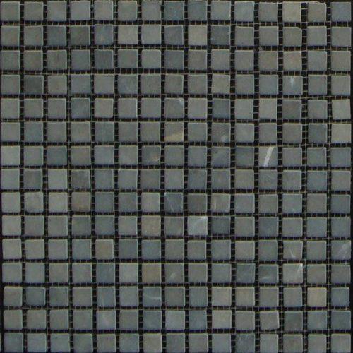Mosaico Piedra Natural Parquet Ebano