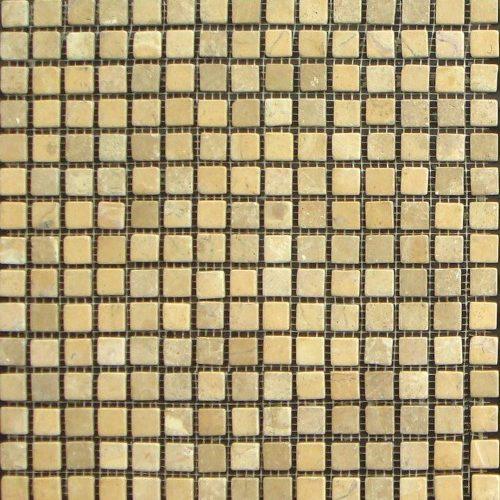 Mosaico Piedra Natural Parquet Crema