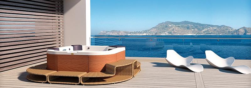 Spa Jacuzzi modelo Delfi Pro de la colección Italian Design