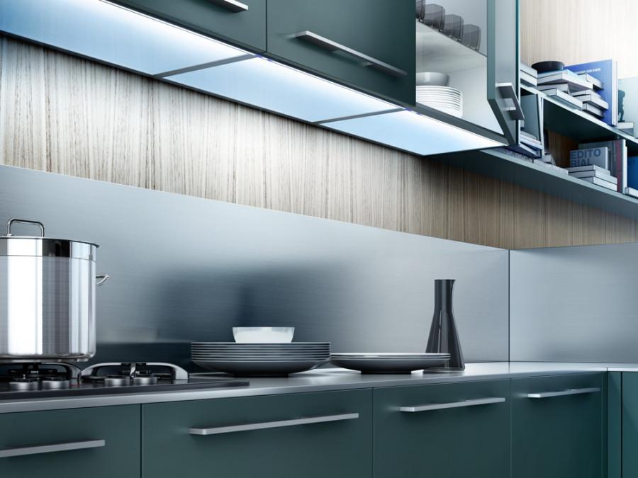 Iluminación en mobiliario de cocina-Gibeller