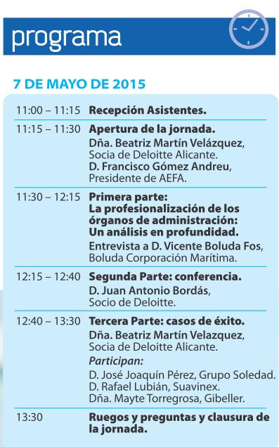 programa jornada AEFA