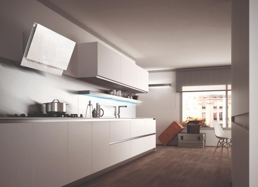 Cocinas modernas 9 propuestas para lograr tu cocina de - Cocinas blancas de diseno ...