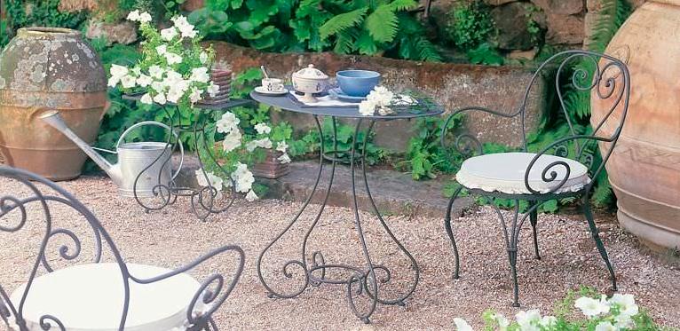 Mueble de jardín Alfeo Mesa Hierro de Unopiu