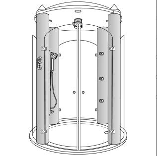 Cabina de ducha Temple 100 DL de Hansgrohe