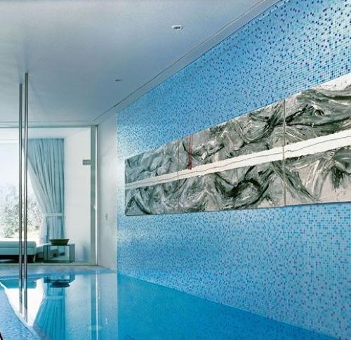 Gresite Mosaico Aqua Azzurro Mix de Bisazza
