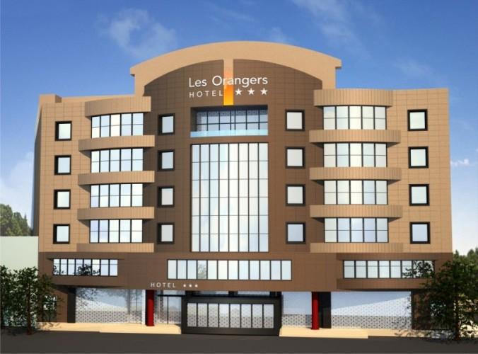 Hotel Les Orangers por fuera (Chlef, Argelia)