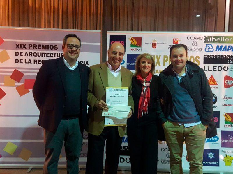 Gibeller colaborando en la XIX Edición de los Premios de Arquitectura de la Región de Murcia