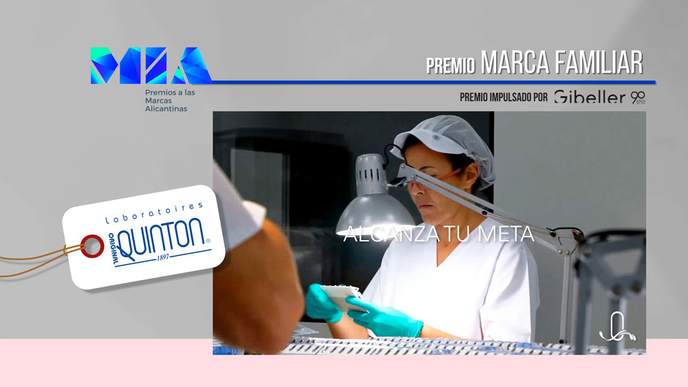 premio MIA Marca Familiar a Laboratorios Quinton