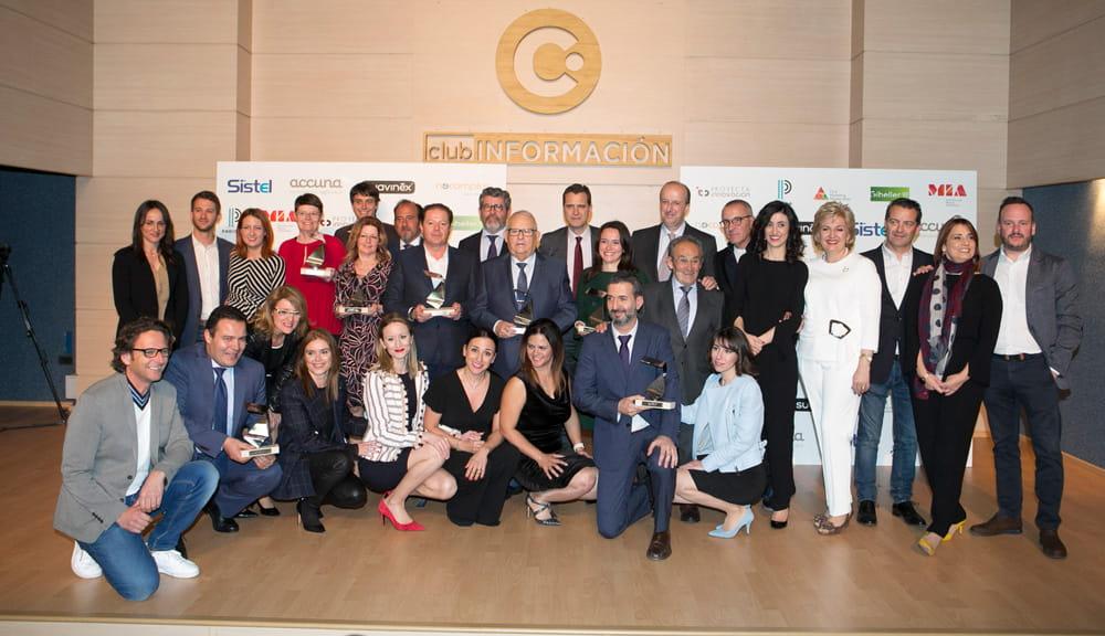 Colaboradores y ganadores de los Premios MIA 2018