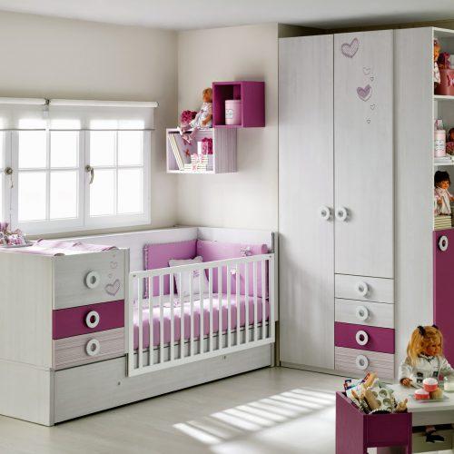 Habitación para bebé rosa