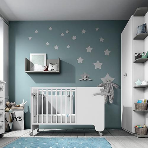 Habitación para bebé azul