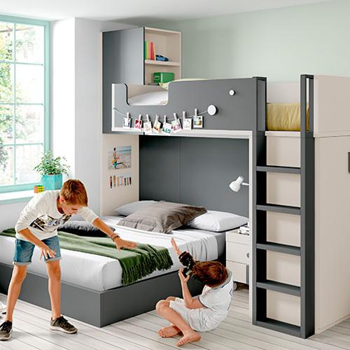 Comprar mobiliario y muebles para dormitorios infantiles - Muebles infantiles para habitaciones pequenas ...