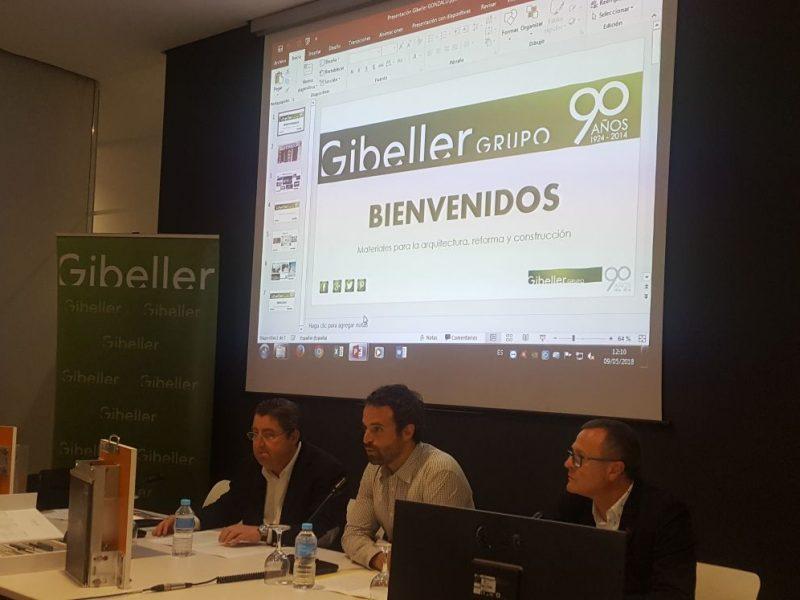 Gibeller presenta en el Colegio de Arquitectos lo último en gran formato, Techlam® Levantina