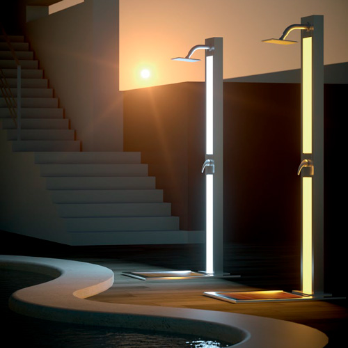 duchas luminiscentes