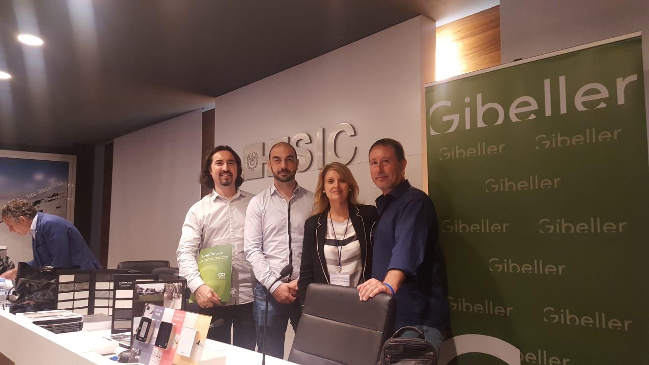 Nuestros compañeros de Gibeller en la presentación del nuevo sistema de Quadro en la ESIC