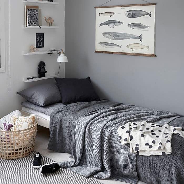 Habitaciones para niños en tonos grises