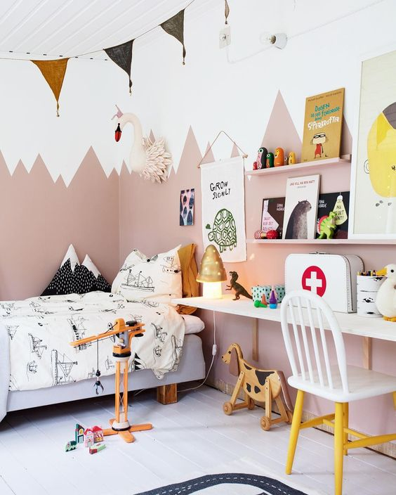 Habitaciones para niños con combinaciones de colores