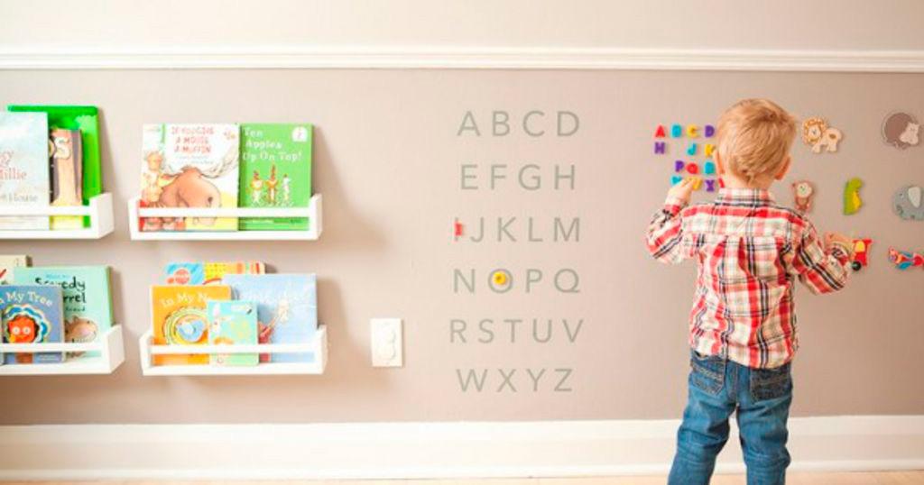 Idea de Pintura Magnética en la habitación de los niños