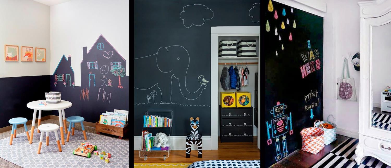Ideas de Pintura Pizarra en la habitación de los niños
