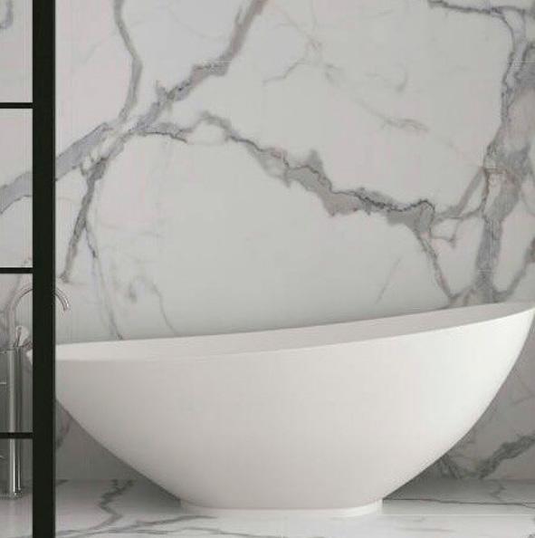 baño con gran formato