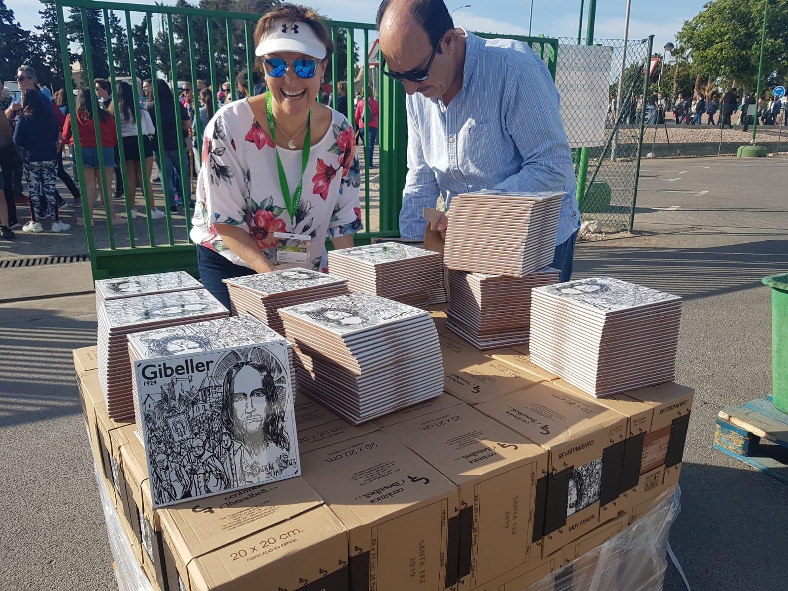 gibeller repartiendo azulejos santa faz 2019