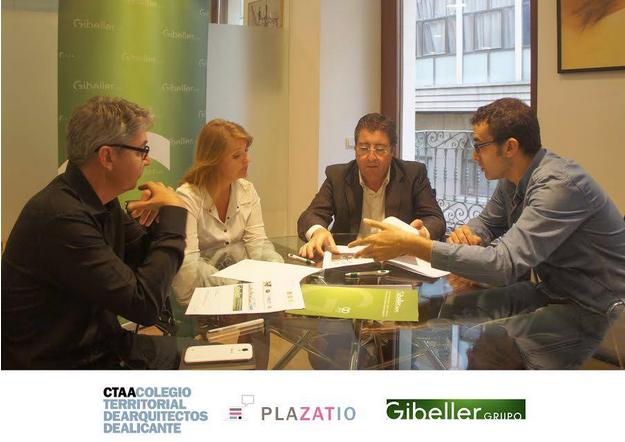 Gibeller amplía su colaboración con la red social Plazatio y el Colegio de Arquitectos de Alicante
